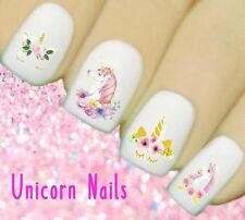 Nail Art Unicorn Water Transfers Nails Decals Wraps #110