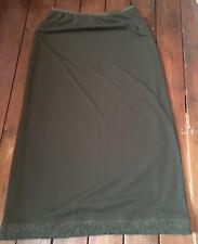 Ladies Long Green Skirt Ana Sousa Size 14