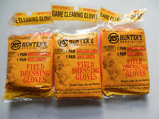 HS Hunter's Specialties;  Field Dressing Gloves;  3 Packs 6 Pairs;  01071