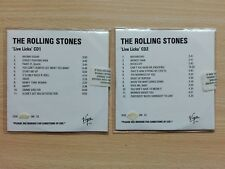 THE ROLLING STONES –''LIVE LICKS''– VIRGIN MASTER ONLY PROMO COPY 2CD + FREE CDS