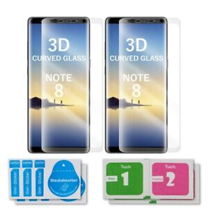 2x Samsung Galaxy Note 8 Curved Glas 3D Schutzglas Displayschutz