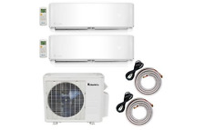 Klimaire 2-Zone 18000 BTU 9000-12000 BTU 20 Seer AC Mini Split Heat Pump 208-23