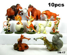 10pcs set Ice Age The Meltdown Buck Ellie Scrat Dinosaur Figure toy cake topper
