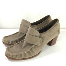 Timberland 9 Suede Loafer Booties Career Casual Taupe Excellent