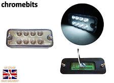 8X 24 VOLT WHITE SIDE MARKER LIGHT INDICATOR LAMPS TRUCK LORRY LGV HGV BUS LED