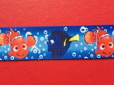 FINDING DORY NEMO Fish Grosgrain RIBBON 1Mtr X 22mm For Craft Hair Gifts Cakes
