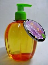 Pumpkin Harvest Scented Hand Soap Refillable Orange Green Plastic Kitchen Bath