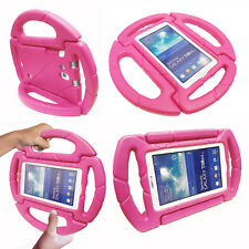 """Cute Baby Kids Toddler Steering Wheel Shockproof Eva Foam Stand Case for Tablets Samsung Galaxy Tab 3 7"""" / T210 Hot Pink"""