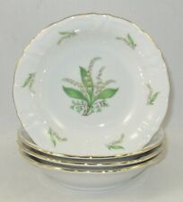 Treasure Chest Bavaria China LILY OF THE VALLEY Set Of 4 FRUIT/SAUCE BOWLS / # 2