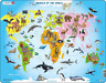 Larsen A34 Animals of the World, Jigsaw Puzzle with 28 Pieces, English Edition