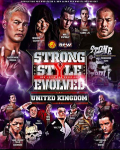 Official NJPW - New Japan Pro Wrestling - Strong Style Evolved UK  - Poster