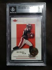 2001 Fleer Authority #101 MICHAEL VICK RC (Falcons) BGS 9 MINT *0878/1350