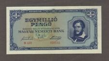 1945 1 ONE MILLION PENGO HUNGARY CURRENCY GEM UNC BANKNOTE NOTE BILL CASH WWII