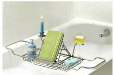 New Over Tub Caddy by Spa Creations Satin Nickel Finish Adjustable