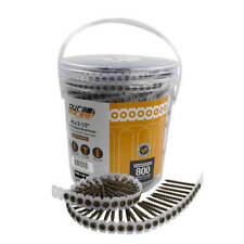 DuraDrive #8 x 2-1/2 in. Square Collated Coarse-Thread Wood Screws (800-Pack)