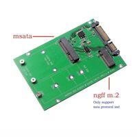 "mSATA SSD to SATA M.2 B / B+M KEY NGFF & 2.5"" III Board Adapter Converter Card"