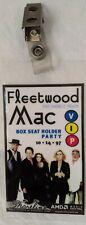Fleetwood Mac V.I.P. Concert Badge Bx Seat Pass 10*14*97 Shoreline Amp. M.V. Ca.