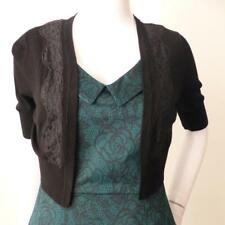 ALANNAH HILL - NEW  rrp $169.00 Say it With Flowers Black Cardigan Size 8 / US 4