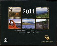 UNITED STATES MINT 2014 AMERICA THE BEAUTIFUL QUARTES  UNCIRCULATED IN FOLDER