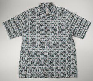 Burma Bibas 60 Singles Lawn 100% Cotton Short Sleeve Shirt Patterned Funky Large
