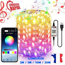 Guirlande LED Noel Décorations Lumineuses Intérieur Extérieur Etanche Charge USB