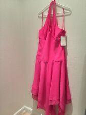 Women Gala Evening Dress Fuchsia Assymetrical Pink 16 Open Back BEAUTIFULL