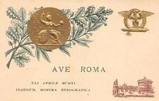 2841) AVE ROMA 1911 INAUGURAZIONE MOSTRA ETNOGRAFICA.
