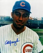 1967-71 Chicago Cubs AL SPANGLER Signed 8x10 Photo #2 AUTO