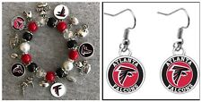 Atlanta Falcons Bracelet And Earring Set