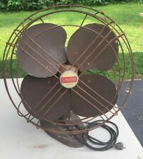 Vintage Spartan variable speed oscillating table fan Model P2163A works