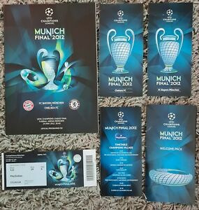 2012 CHAMPIONS LEAGUE FINAL PROGRAMME + TICKET + LEAFLETS + WELCOME PACK