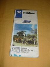 IGN France Carte Touristique N°510 Guadeloupe 1988