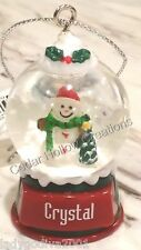 Personalized Snow Globe Ornament - Crystal - FREE Shipping