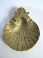 """Solid Brass Sea Shell Ash Tray 6"""" X 5"""""""
