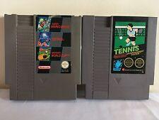 SUPER MARIO BROS, TETRIS, WORLD CUP, TENNIS Nintendo NES 4 GAME BUNDLE PAL A UKV