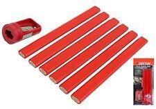 Dekton 7 Pc Carpenters Pencil And Sharpener Joiner Set Marking Wood Material