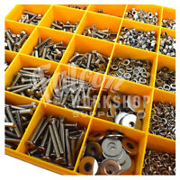 1890 ASSORTED M8 A2 STAINLESS STEEL SOCKET BUTTON CSK CAP SCREW NUT WASHER KIT