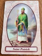 Saint Patrick relic holy card