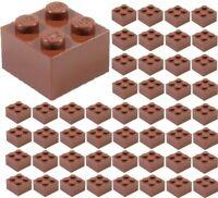 ☀️50x NEW LEGO 2x2 REDDISH BROWN Bricks (# 3003) BULK Parts City Building