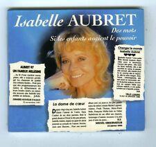MAXI CD SINGLE (NEUF) ISABELLE AUBRET DES MOTS (DIGIPACK)