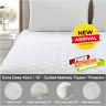 Extra Deep Quilted Mattress Protector Bed Fitted Cover Single Double King Size