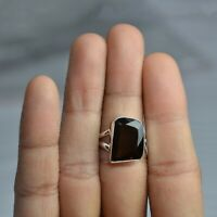 Handmade 925 Solid Sterling Silver Jewelry Smoky Quartz Solitaire Ring Size 5.5