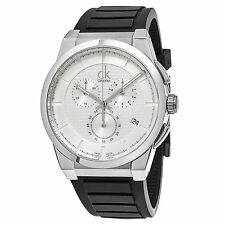 Calvin Klein Men's Dart Chronograph Swiss Quartz Rubber Strap Watch K2S371D6
