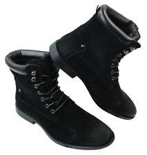 Bottes homme Militaire Punk Rock noir marron style décontracté simili cuir rétro