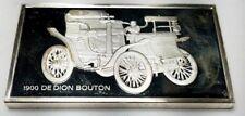 1974 STERLING SILVER FRANKLIN MINT CENTENNIAL CAR INGOT-1900 DE DION BOUTON-1.92