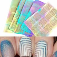 3 Sheet 3D Design Manicure Tips Nail Art Transfer Stickers Decal Decoration UK