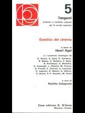 ESTETICA DEL CINEMA PRIMA EDIZIONE HENRI AGEL D'ANNA 1973 TANGENTI
