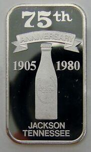Jackson, TN - Coca Cola 75th Anniversary - 1 oz. .999 Silver Art Bar