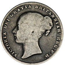 More details for 1858 8 over 9 victoria silver shilling coin of great britain