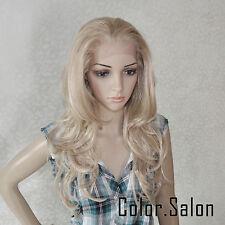 Hand Weben Kunsthaar Spitzenfrontseite Lace Front Wig Glueless Perücke 92#613M27